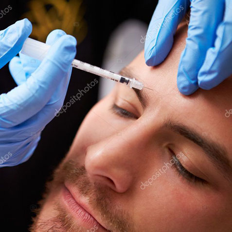 Man Receiving Injectable